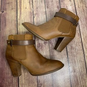 MADEWELL Brown Leather Lonnie Distressed Boots